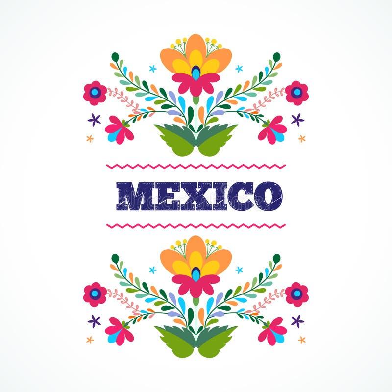 Mexico flowers ornament vector illustration stock vector download mexico flowers ornament vector illustration stock vector illustration of modern love stopboris Images