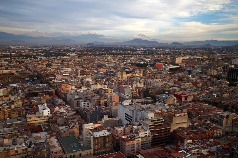 Mexico - flyg- sikt för stad arkivbilder