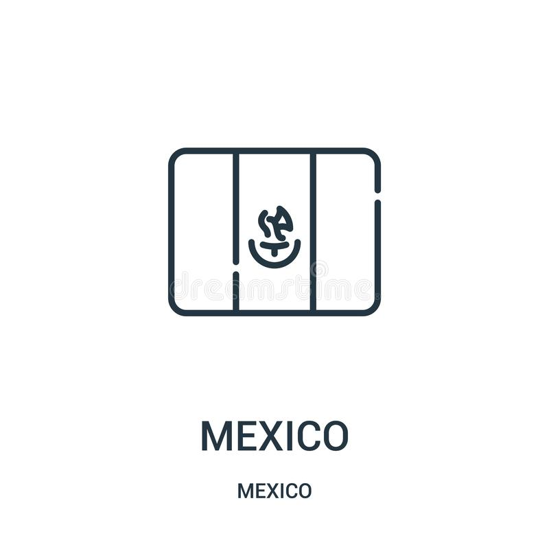 mexico icon vector from mexico collection. Thin line mexico outline icon vector illustration royalty free illustration