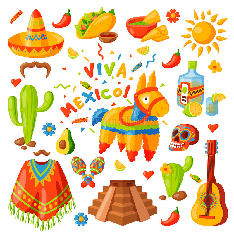 Mexico icons vector illustration. vector illustration