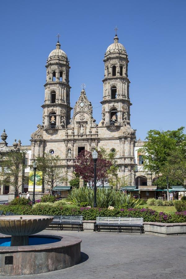 Mexico Jalisco, . Basilica de Zapopan. Monuments of Guadalajara, Jalisco, Mexico. Basilica de Zapopan stock image