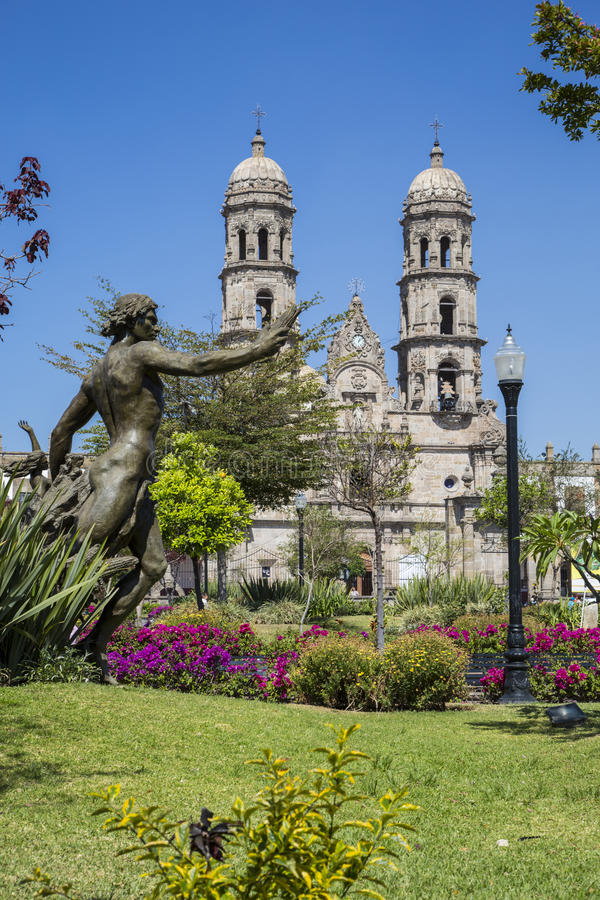 Mexico Jalisco, Basilica de Zapopan. Monuments of Guadalajara, Jalisco, Mexico. Basilica de Zapopan royalty free stock images