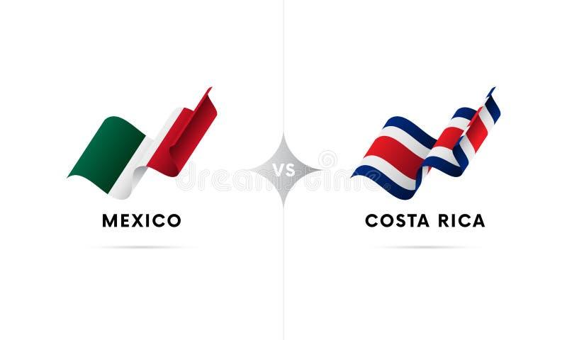 Mexico kontra Costa Rica Fotboll också vektor för coreldrawillustration vektor illustrationer