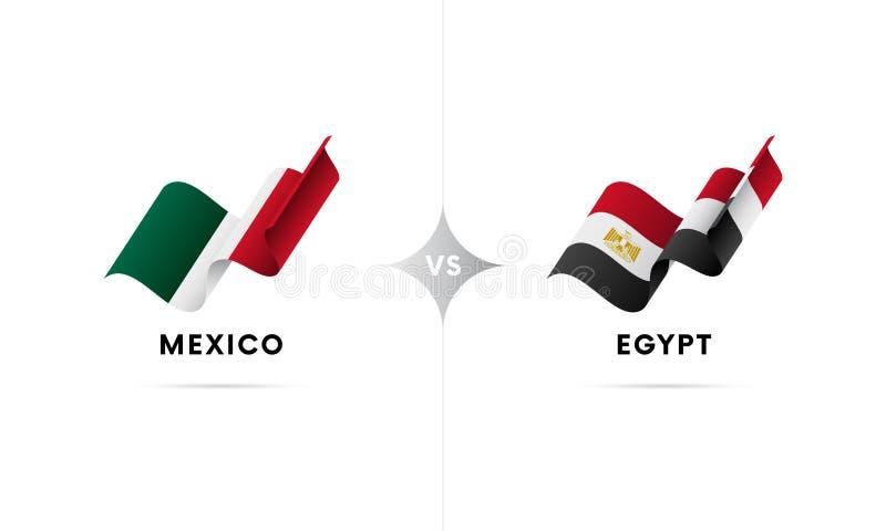 Mexico kontra Egypten Fotboll också vektor för coreldrawillustration vektor illustrationer