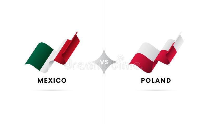Mexico kontra Polen Fotboll också vektor för coreldrawillustration vektor illustrationer
