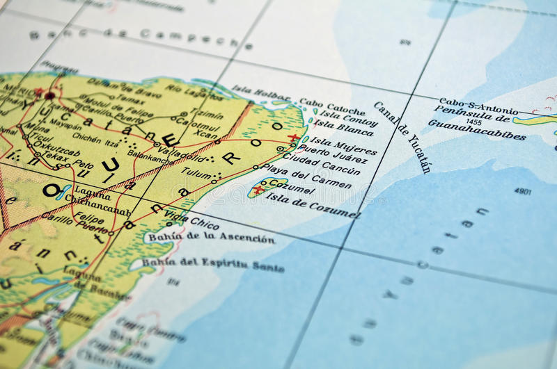 Cancun Map Mexico Photos Free Royalty Free Stock Photos From Dreamstime