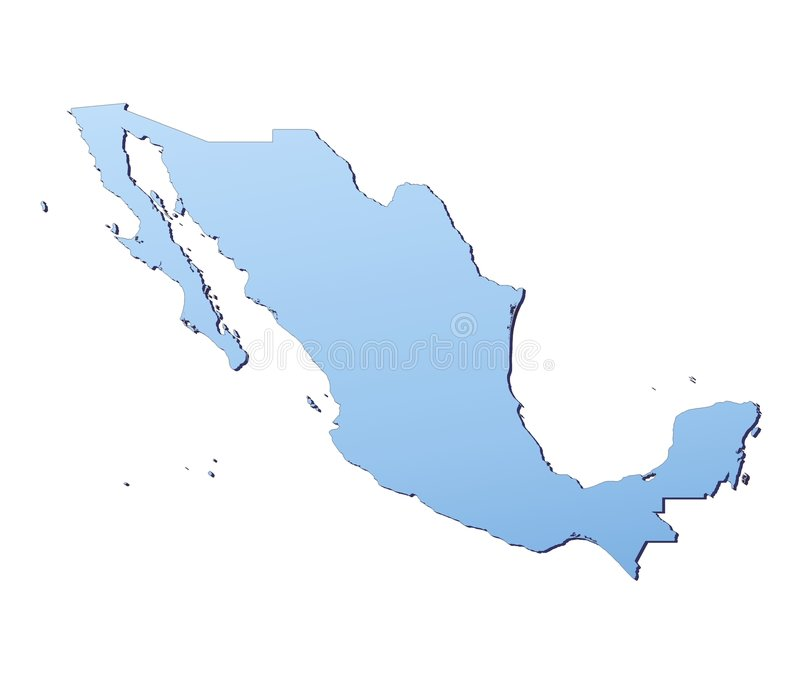 Download Mexico map stock illustration. Illustration of geography - 4694934