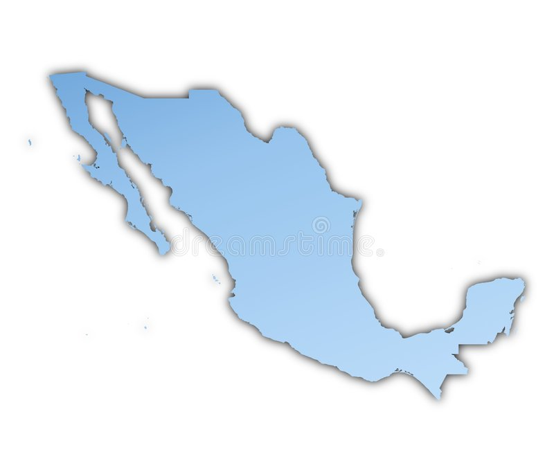 Download Mexico map stock illustration. Image of blue, graphic - 6796590