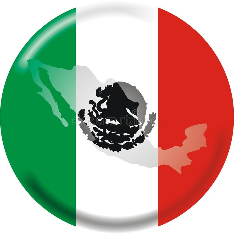 Download Mexico Map And Flag Royalty Free Stock Image - Image: 2311716