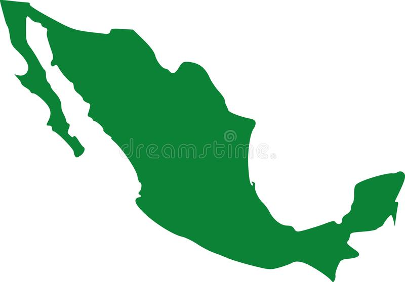 Mexico map vector stock illustration