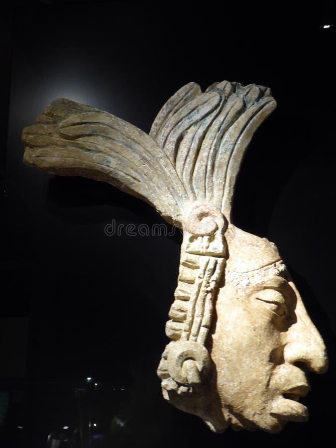 Mexico Maya art acient head mask of mayian king royalty free stock photography