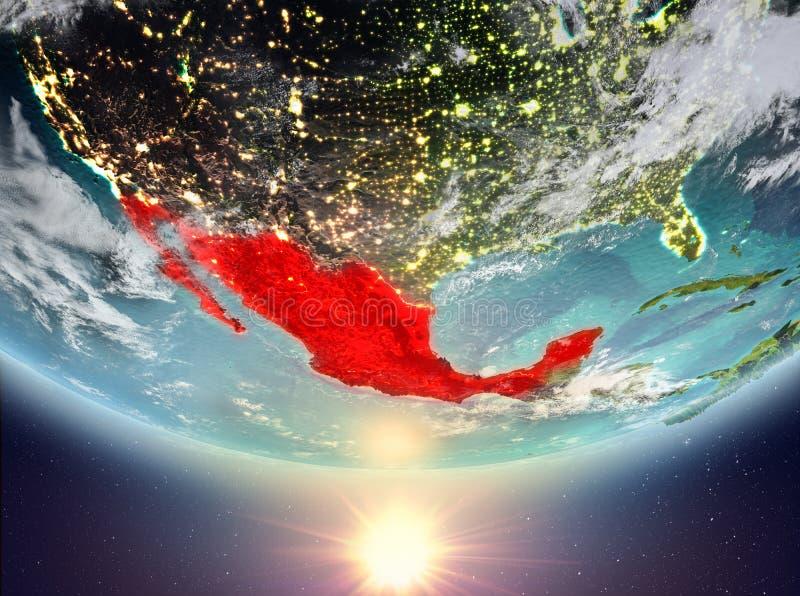 Mexico met zon stock illustratie