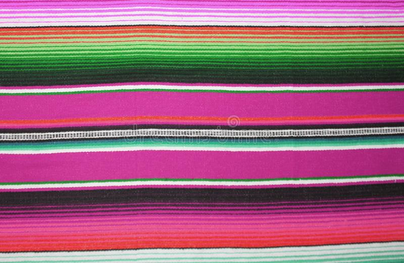 Mexican poncho background blanket cinco de mayo Mexico traditional rug poncho fiesta background with stripes copy space vector illustration