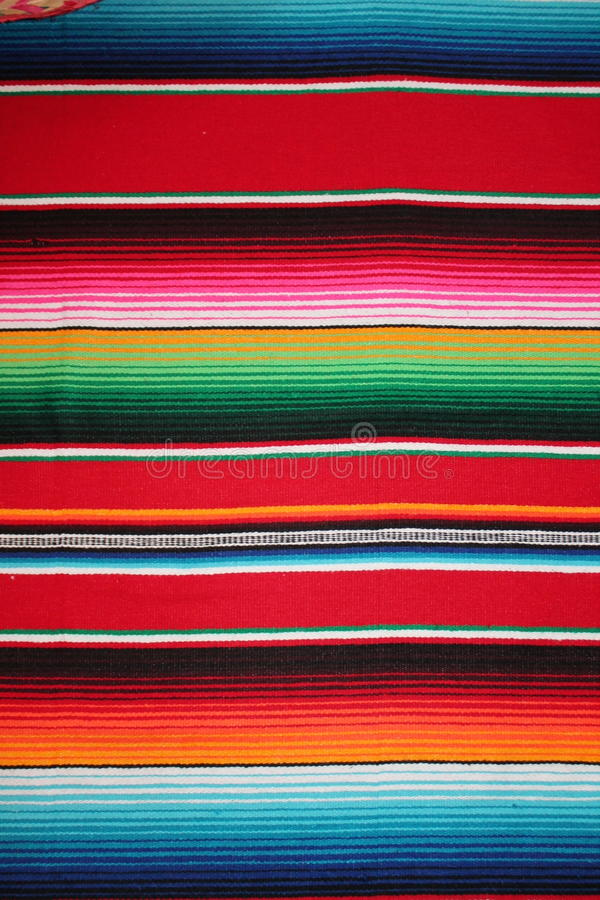 Mexico Mexican poncho stock cinco de mayo rug poncho fiesta background with stripes royalty free stock photos