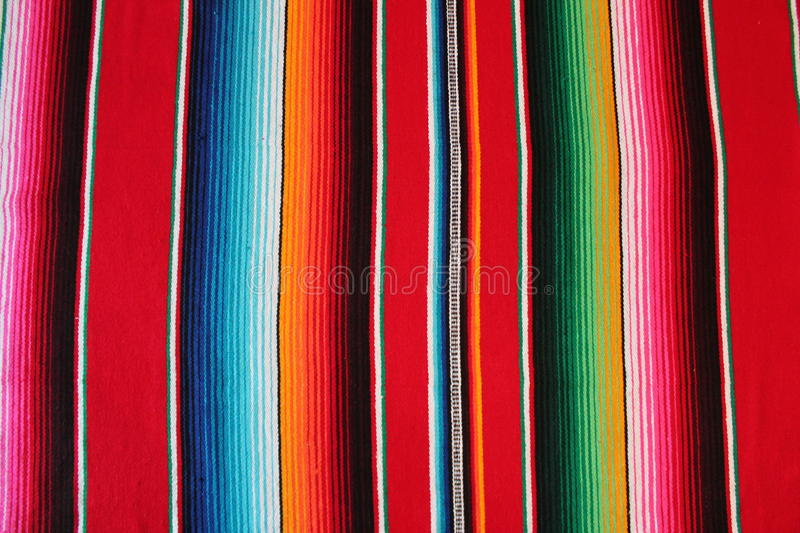 Poncho Mexican cinco de mayo stock Mexico blanket rug fiesta background with stripes royalty free stock image