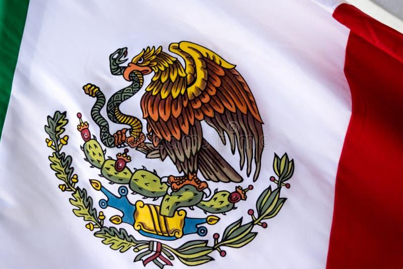 Mexico National Emblem photograph. MONTERREY, NUEVO LEON / MEXICO - 18 11 2017: Mexican National official emblem royalty free stock photography