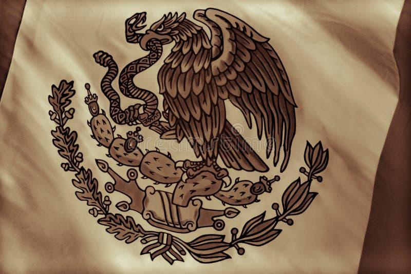 Mexico National Emblem photograph. MONTERREY, NUEVO LEON / MEXICO - 18 11 2017: Mexican National official emblem stock photo