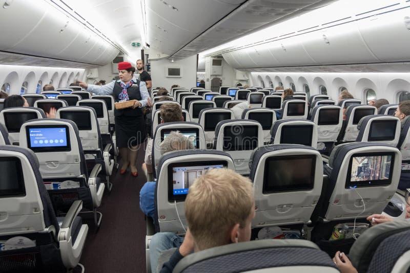 Delightful Download MEXICO   NOVEMBER 22, 2017: Aeromexico Boeing 787 Dreamliner  Interior With Cabin Crew