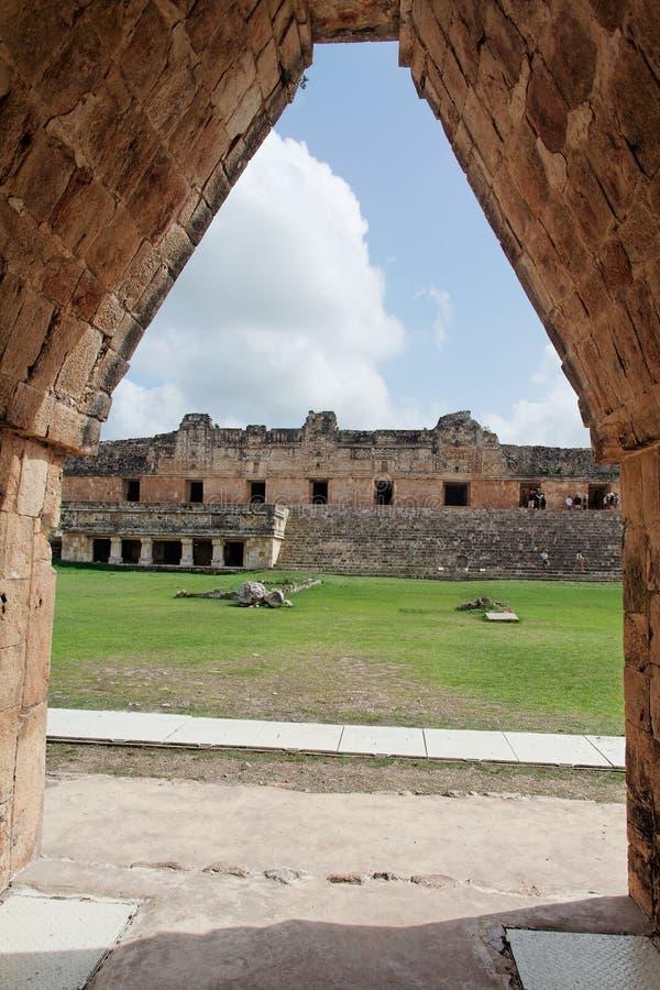 mexico nunneklosterfyrkant uxmal yucatan royaltyfri foto