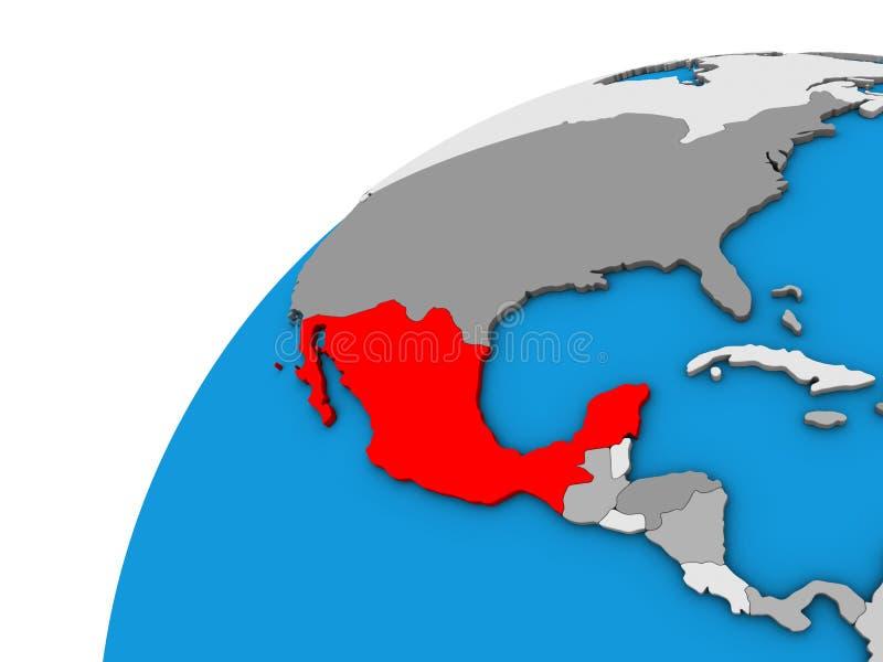 Mexico op 3D bol vector illustratie