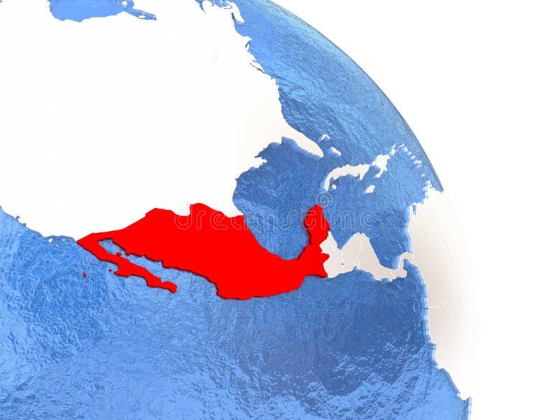 Mexico på det eleganta jordklotet stock illustrationer