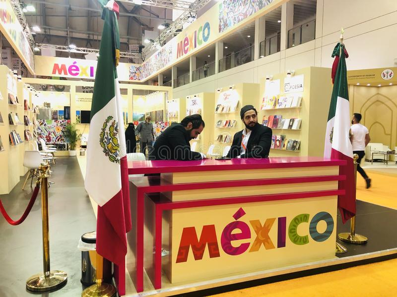 Mexico pavilion at Sharjah International Book Fair stock photography
