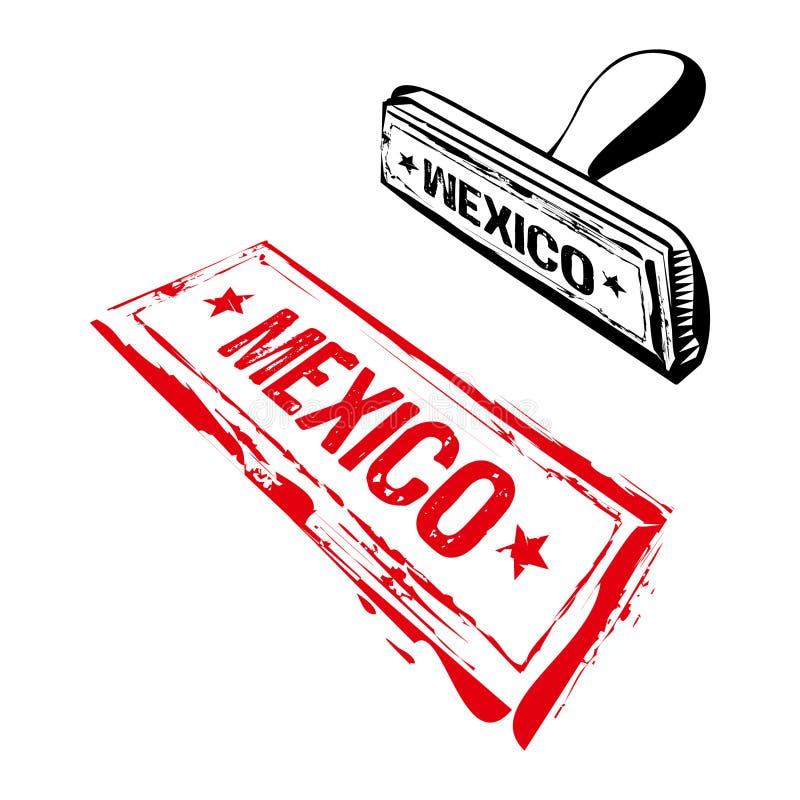 mexico pieczątka royalty ilustracja