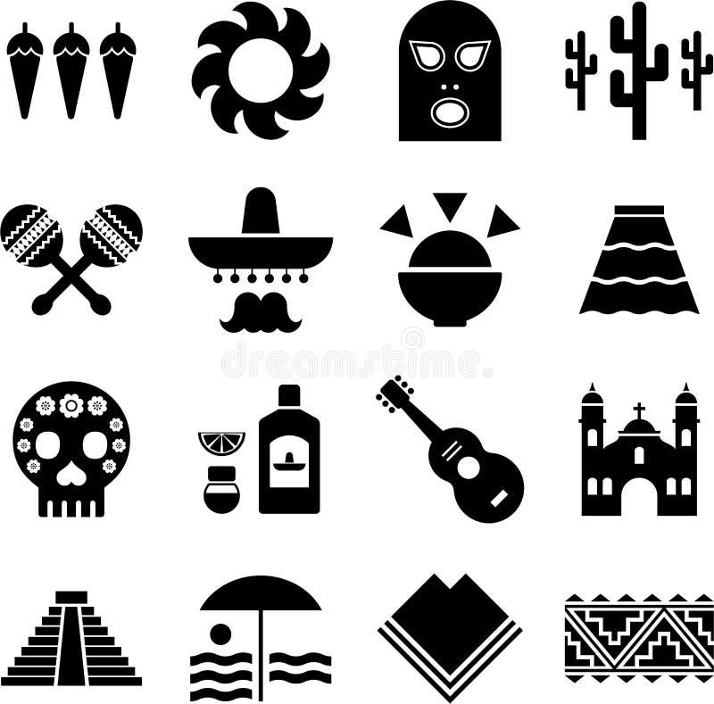 mexico piktogramy royalty ilustracja