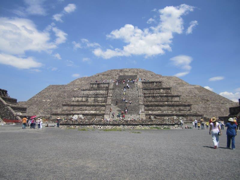 Mexico, piramides van Teutihuacan Piramide van saun stock fotografie