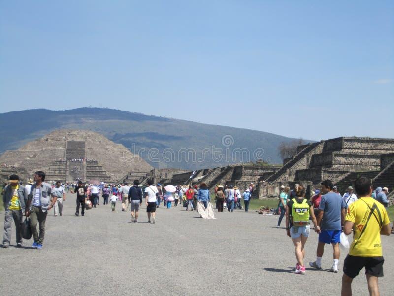Mexico, piramides van Teutihuacan Piramide van saun stock afbeeldingen