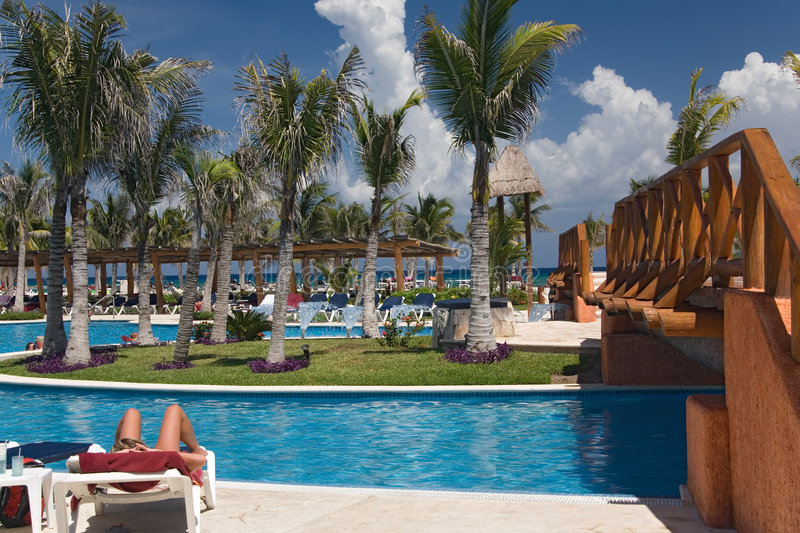 Download Mexico pool and ocean stock photo. Image of architecture - 1317300