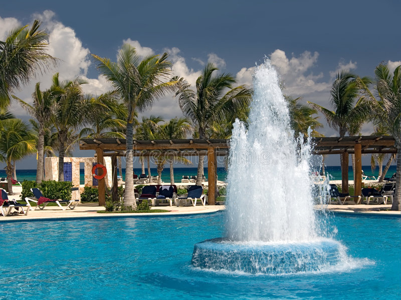 Download Mexico pool and ocean stock photo. Image of resort, coast - 4872492