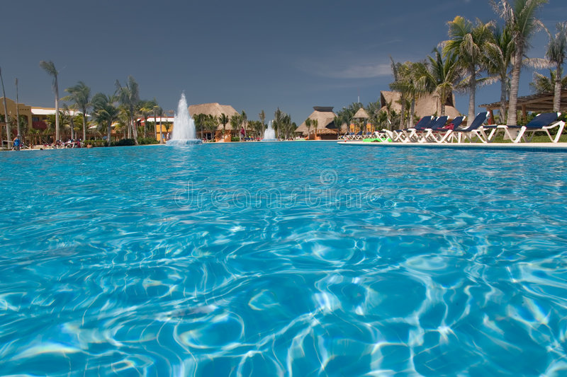 Mexico Pool View From Water Stock Photos