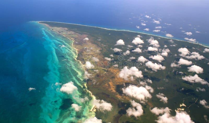 mexico powietrzny widok Yucatan zdjęcie stock