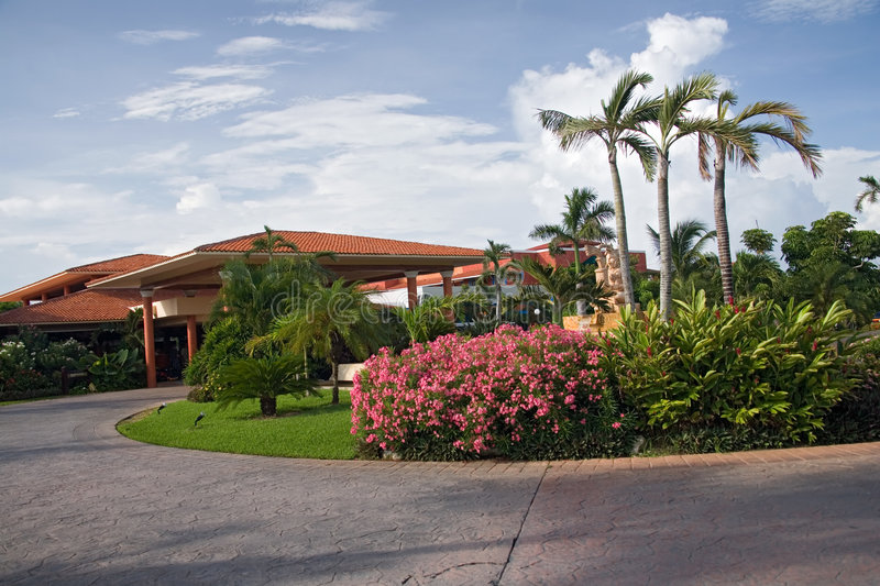 Mexico resort at the entrance stock images