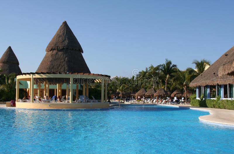 Mexico Riviera Maya Iberostar Paraiso Lindo Pool Stock Photos