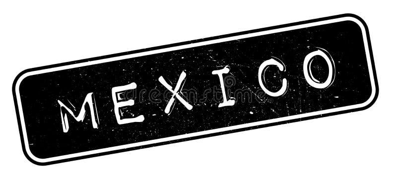 Mexico rubber stämpel royaltyfri illustrationer