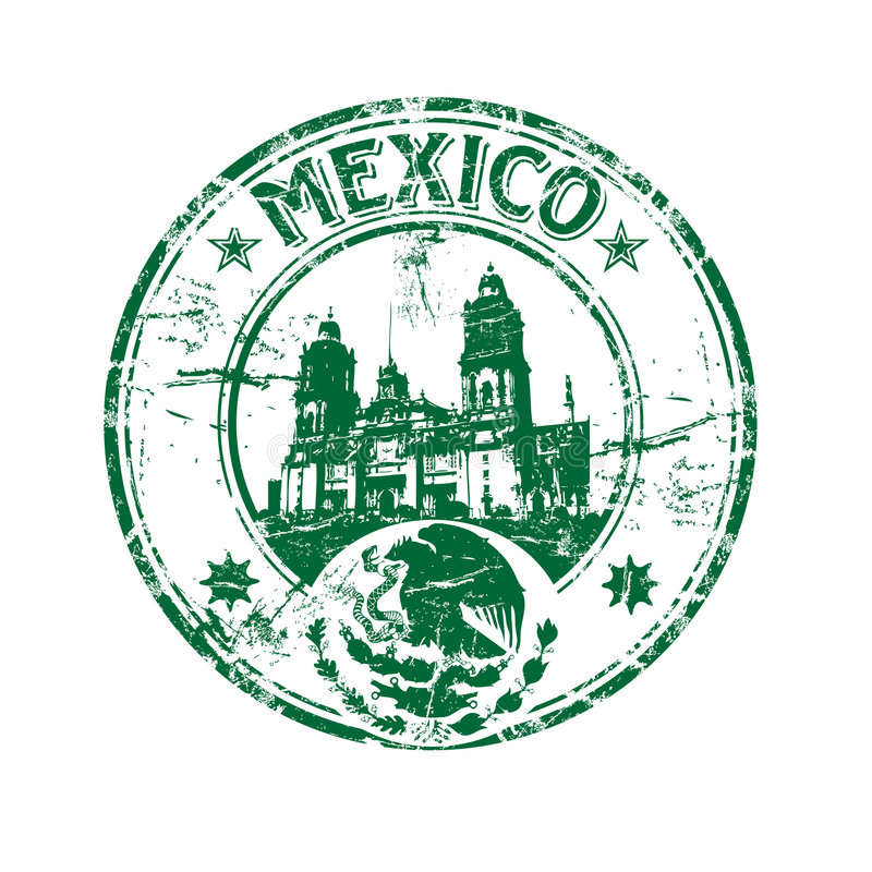 Mexico rubber stamp stock illustration