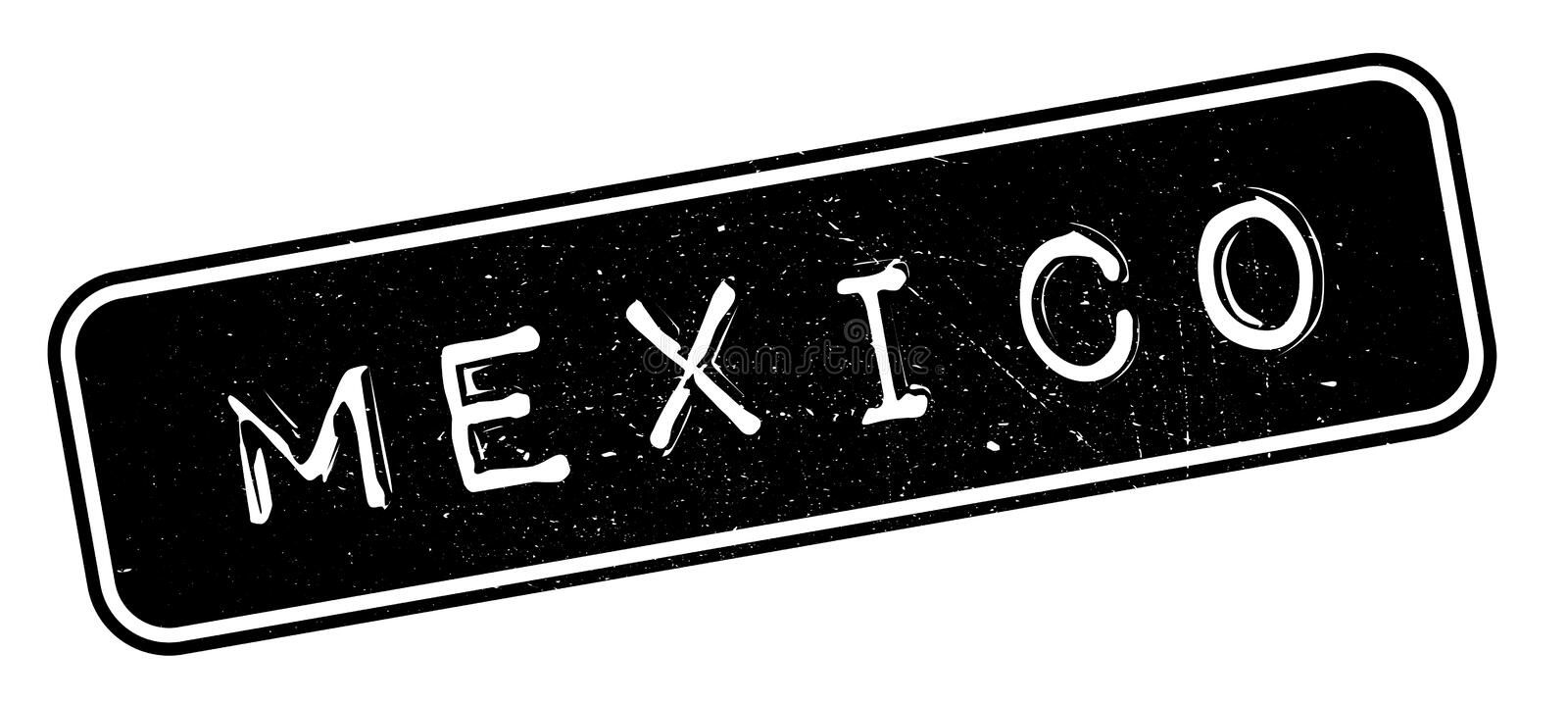Mexico rubber stamp. Grunge design with dust scratches. Effects can be easily removed for a clean, crisp look. Color is easily changed royalty free illustration