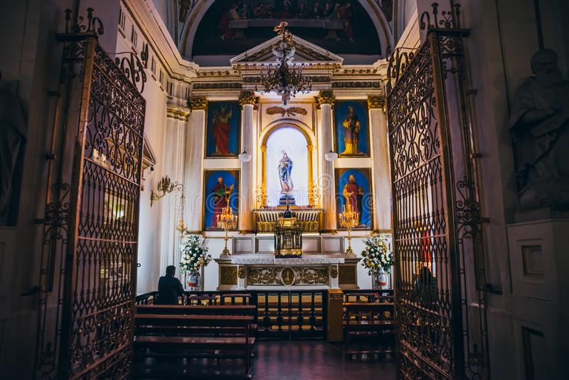 MEXICO - SEPTEMBER 25: Altar dedicated to Virgin Mary at the mai royalty free stock images