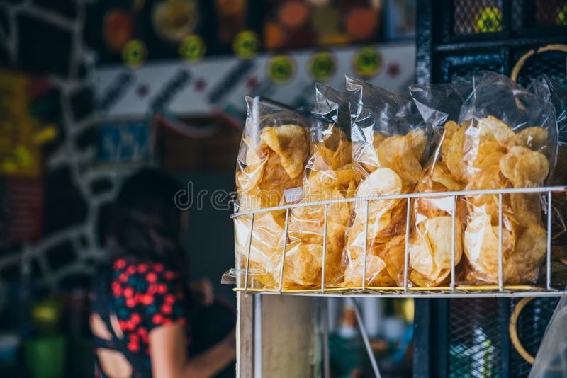 MEXICO - SEPTEMBER 20: Traditional Mexican snacks being sold at a street store royalty free stock image