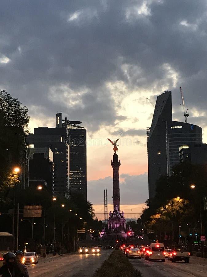 Mexico självständighetängel royaltyfri bild
