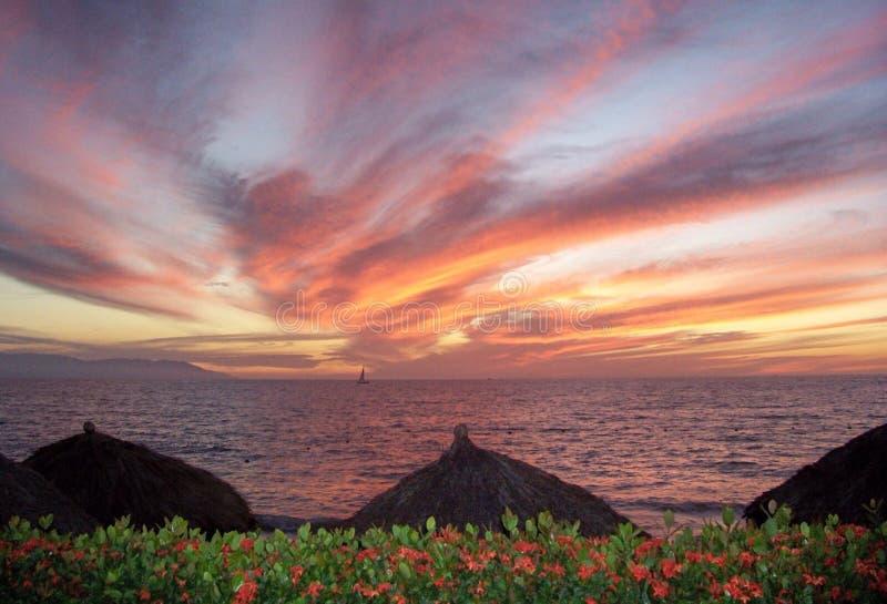 mexico solnedgång arkivbilder