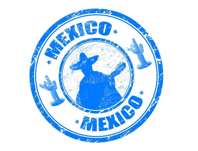 mexico stämpel stock illustrationer