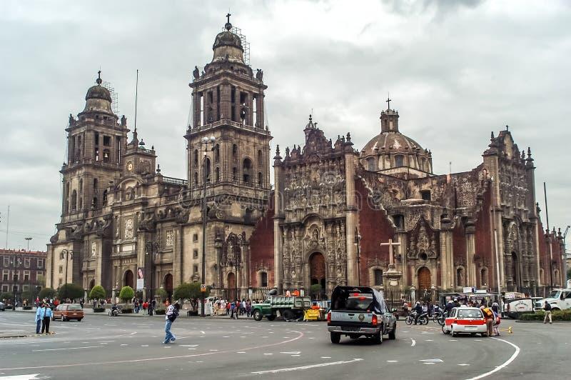 Mexico - stadsdomkyrka arkivbilder