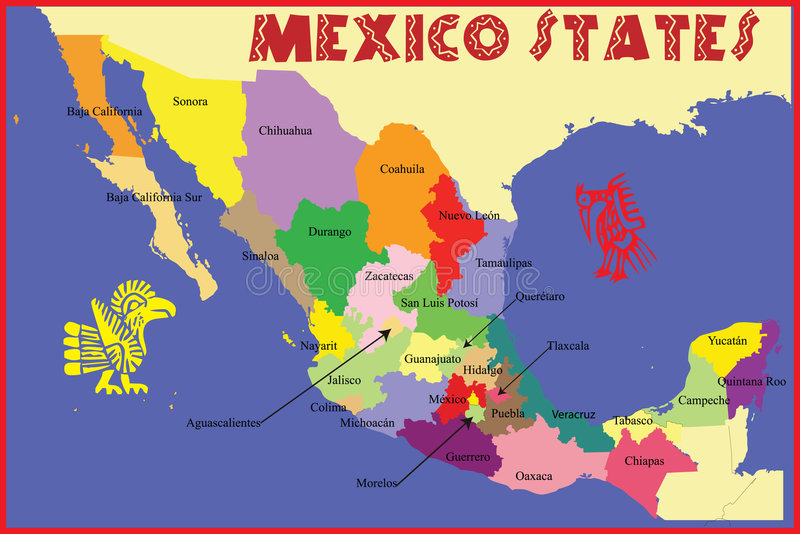 Mexico states stock illustration Illustration of mexican 9312504