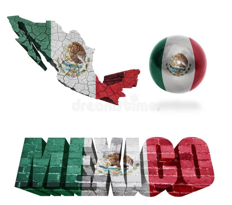Mexico symboler stock illustrationer