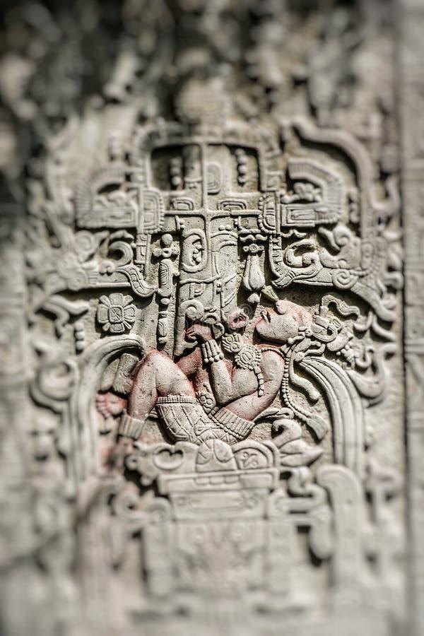 Mexico tempel som snider konster royaltyfri fotografi