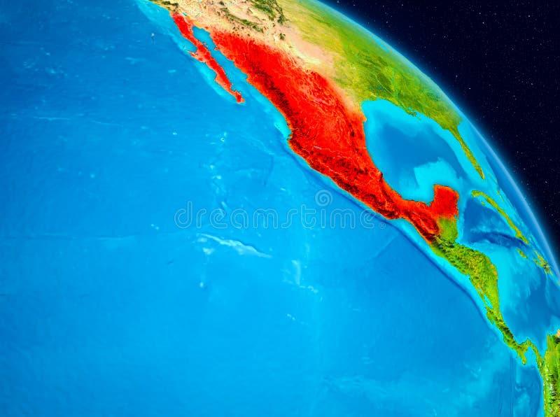 Mexico ter wereld stock illustratie