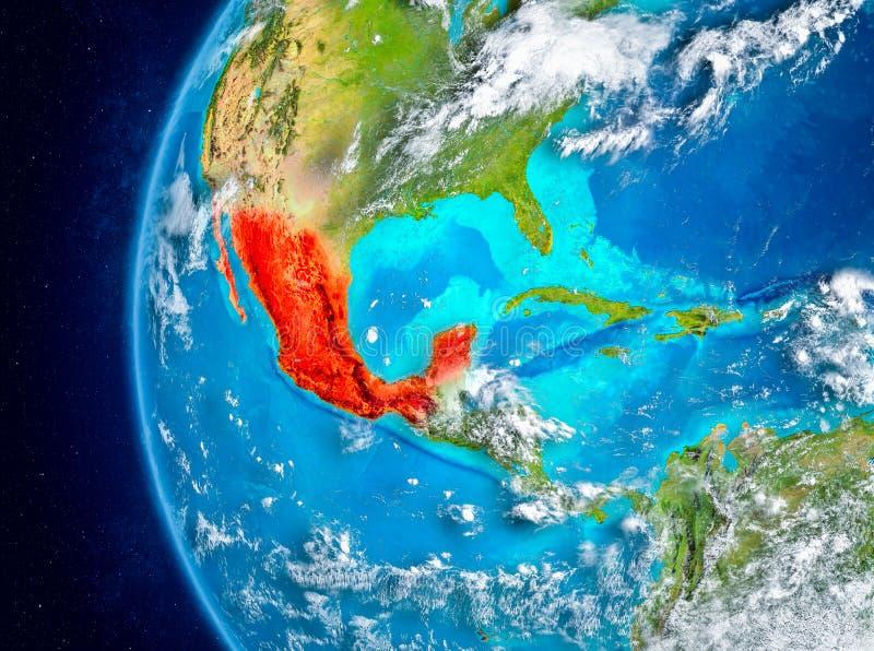 Mexico ter wereld van ruimte vector illustratie